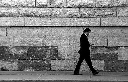 Walking and Texting by -- brian cameron --