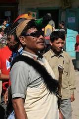 Horn bill headress on the Kameng river Adventure rafting and Kayaking trip