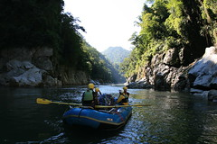 one of the many gorges on the Kameng river Adventure rafting and Kayaking trip