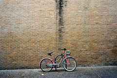 bike (xgray) Tags: leica color film bike bicycle wall analog zeiss 35mm austin texas kodak 100 m7 ektar zm