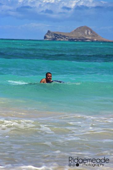 Dan boogie boarding
