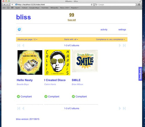 bliss running on OS X Lion