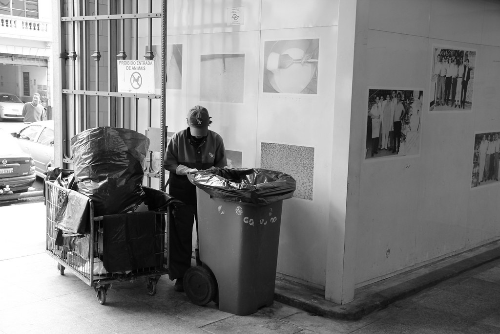 Worker | São Paulo's Municipal Market, Brazil | Street Photography, Urban Photography, Black and White Photography