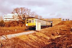 117 L423 Colnbrook 24.01.81 (jonf45 - 5 million views -Thank you) Tags: class 117 l423 colnbrook br british rail railways dmu trains staines west branch farewell railtour