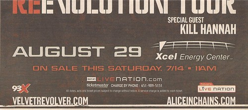 08-29-07 Velvet Revolver/Alice In Chains/Kill Hannah @ St. Paul, MN (Bottom)