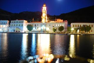 Kloster Panormitis bei Nacht