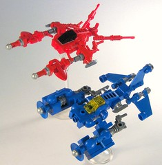 Prototype Racers (Legoloverman) Tags: ice fire ship lego prototype micro racer ipur starleague