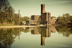 .halle (saale) 2011 (not WWII). (zonenfred) Tags: reflection abandoned germany geotagged decay wwii explore worldwarii urbanexploration oldmill tamron spiegelung halle saale urbex hallesaale verfall altemhle canoneos40d hildebrandschemhlenwerkeag teamworx unsermtterunserevter