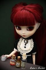 Scarlett (Lunatic Queen) (pure_embers) Tags: uk scarlett dark dolls wine gothic suicide victorian queen weapon pullip poison lunatic arsenic lunaticqueen