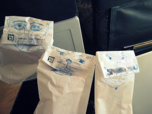 Barf bag puppets