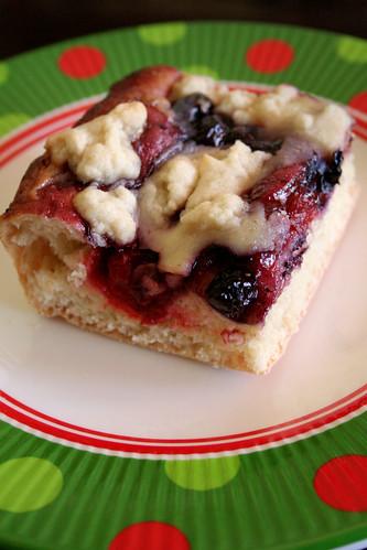 Cheery Cherry Blueberry Christmas Bread.