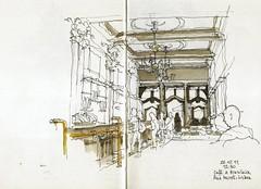 Lisbon, caf A Brasileira (Luis_Ruiz) Tags: sketch cafe drawing lisboa lisbon indoor dibujo symposium brasileira carnetdevoyage urbansketchers