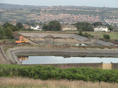 Baildon Moor Reservoir Demolition (July, 2011)