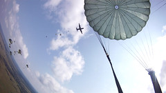 Through the Eyes of a Paratrooper: 173rd Jumps in Ukraine for Rapid Trident 2011 (U.S. Army Europe Images) Tags: us army europe usareur usaeur military soldiers airborne troops paratroopers forces ukraine poland uk united kingdom serbia belarus latvia jump c130 hercules parachute training preparation site rapid trident 2011 multinational exercise yavoriv international peacekeeping security center interoperability building partner capacity stronger together strong teams america states germany england canada widescreen gopro helmet cam 1st first person perspective