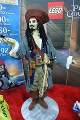 LEGO Captain Sparrow Statue at the LEGO booth - San Diego Comic Con - 1