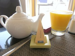 Tea and OJ at Baleen