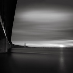 Black old sun (c e d e r) Tags: ocean longexposure bridge sea bw seascape skne sweden malm resund resundsbron skane oresundbridge nd110 oresundstrait