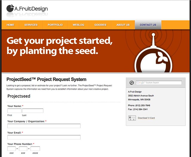 A.Fruit Design Project Request System