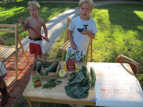 children's produce stand