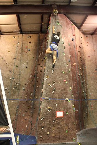 Trish climbs