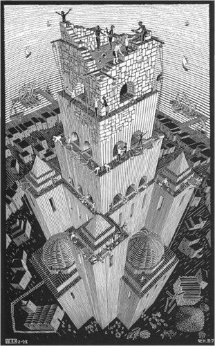 Babel-escher by doodle_juice