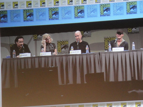 San Diego Comic-Con 2011 - the Raven panel - John Cusack, Alice Eve, director James McTeigue, and Luke Evans