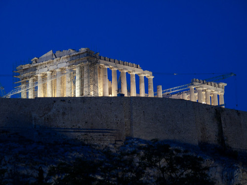 Parthenon from restaurant by psychedup2009