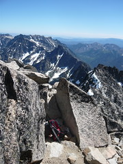 Traverse from false summit