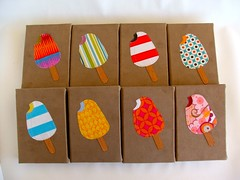 sweet toof journals (Smallest Forest) Tags: cute sweet sugar icecream kawaii etsy applique notebooks diabetes popsicles handbound fabriccollage madeit sweettoof