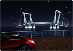 01/08/2011 (ARGRACE) Tags: bridge drive secondlife midnight argrace