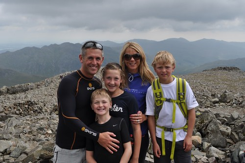 The Powell Family at Scafell