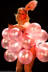 Casa Bellini 01-086 (paulwrightphoto) Tags: balloons newcastle live stage retro burlesque alternative balloonpop frankiiwilde casabellini thepeoplestheatre