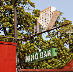 HI HO BAR (FotoEdge) Tags: red sky usa green electric bar football midwest neon rusty stjoseph bluesky mo drinks missouri wires tavern hi fans kc ho cocktails crusty chiefs catalpa sportsbar hung saintjoseph kcmo hos hiho rooting catalpatree bulbsign kcchiefs offtoworkwego hihobar