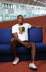 Usain Bolt meets Brunel's future athletics stars (Brunel University London) Tags: students athletics athletes bruneluniversity bruneluni usainbolt ashleybryant shakirawhight juniorejehu stephaniegaynor