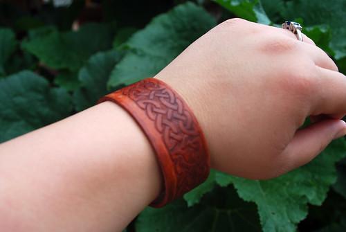 Leather Bracelet in Use