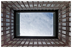 window (picture 4B) Tags: city architecture clouds germany town fenster sony hamburg himmel wolken stadt architektur hdr chilehaus photomatix a580