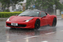 Ferrari, 458, Italia, 655, Tai Mei Tuk, Hong Kong, *EXPLORE - August 4th 2011* (Daryl Chapman's - Automotive Photography) Tags: auto china cars water car rain canon italian automobile italia ferrari spray explore 7d autos heavy sar taimeituk 458 18135mm