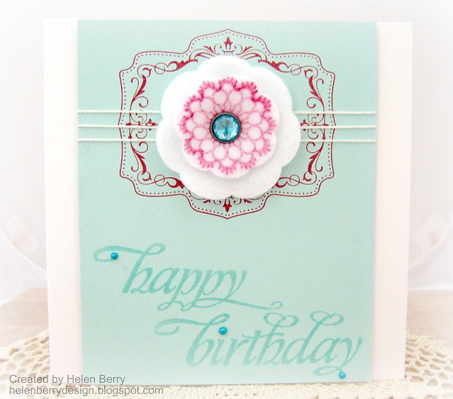 Happy Birthday Felt Doily