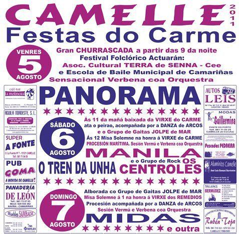Camariñas 2011 - Festas do Carme en Camelle - cartel