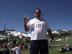 all about the beer (rundixie) Tags: usa mountain america tahoe running run squawvalley runners olympics mountainrun 2000ft