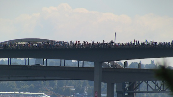 I90 Bridge closed for the Blue Angels