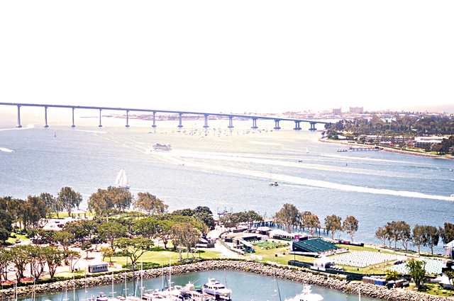 Coronado island in San Diego+view from the Marriott Marquis hotel