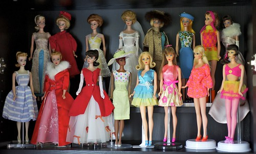 Vintage Barbie shelf by alington