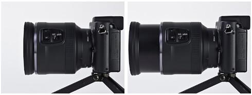 Nikon 10-100mm VR mounted on the Nikon V1