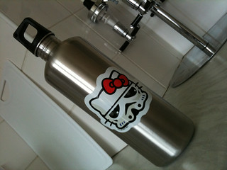 Storm Kitty water bottle to go