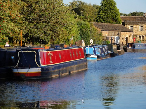 Barges on the Leeds Liverpool Canal