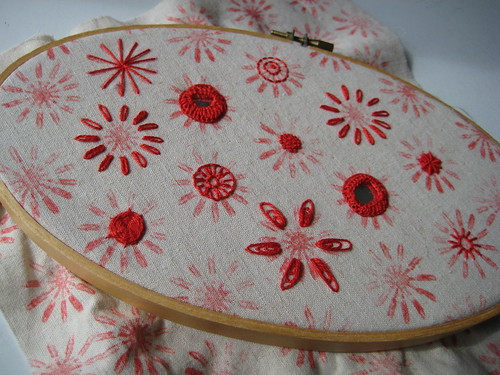 Poppyprint embroidery sampler