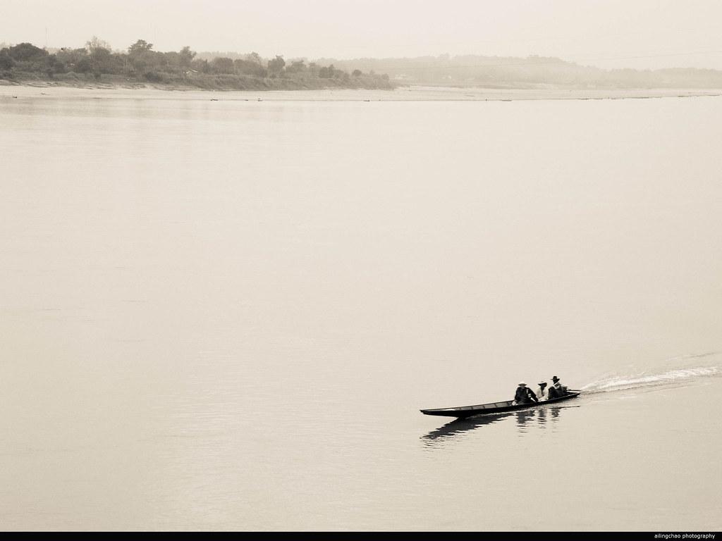老挝。湄公河。