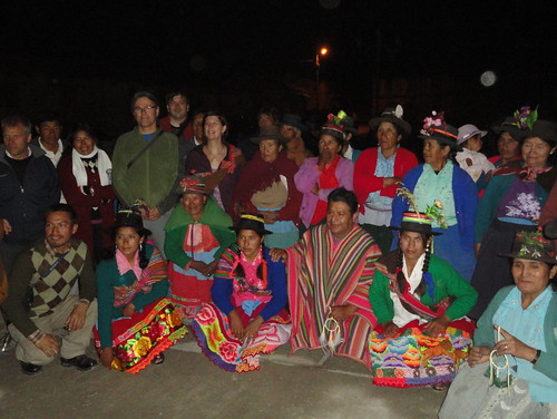 Post-ceremony group shot in Huamanquiquia
