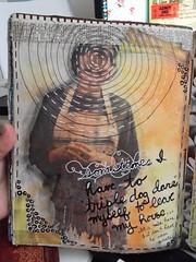 Triple Dog Dare (literarytease) Tags: art mixedmedia literary page tease moira artjournal journaling inthesun literarytease craftymoira
